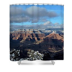Grand Canyon Winter Vista Shower Curtain