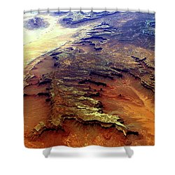 Grand Canyon01 From 6mi Up Shower Curtain