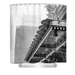 Shower Curtain featuring the photograph Grand Central Snow Day by Dave Beckerman