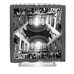 Shower Curtain featuring the photograph Grand Central Terminal Mirrored by Diana Angstadt