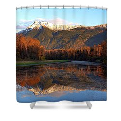 Mount Cheam, British Columbia Shower Curtain by Heather Vopni
