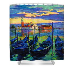 Grand Finale In Venice Shower Curtain by Chris Brandley