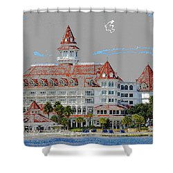 Grand Floridian In Summer Shower Curtain