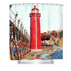 Grand Haven Autumn Shower Curtain