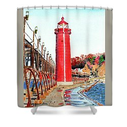 Grand Haven Autumn Shower Curtain by LeAnne Sowa