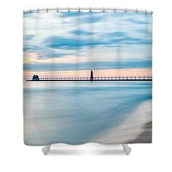 Grand Haven Pier - Smooth Waters Shower Curtain