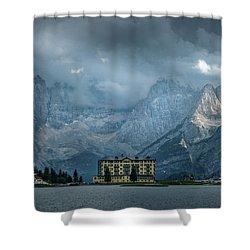 Grand Hotel Misurina Shower Curtain