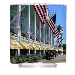 Grand Hotel With Taxi Shower Curtain