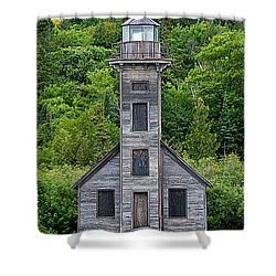 Shower Curtain featuring the photograph Grand Island East Channel Lighthouse #6672 by Mark J Seefeldt