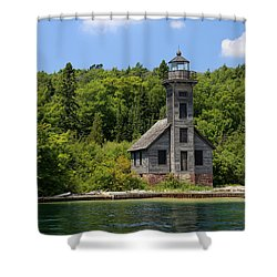 Grand Island Lighthouse 4 Shower Curtain by Mary Bedy