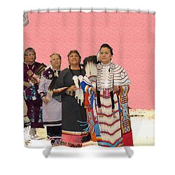 Grand Ladies Enter Shower Curtain
