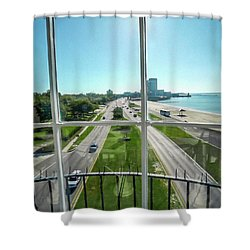 Grand Lighthouse View Biloxi Ms 1t Shower Curtain