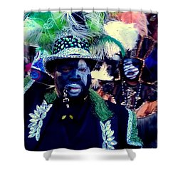 Grand Marshall Of The Zulu Parade Mardi Gras 2016 In New Orleans Shower Curtain