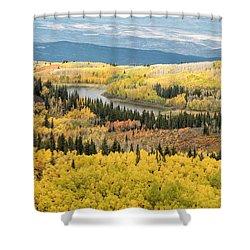 Grand Mesa View Shower Curtain