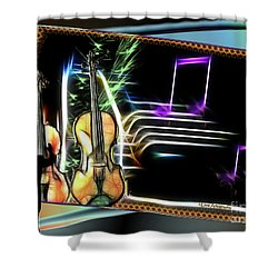 Grand Musicology Shower Curtain