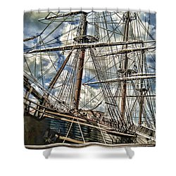 Shower Curtain featuring the photograph Grand Old Sailing Ship by Roberta Byram