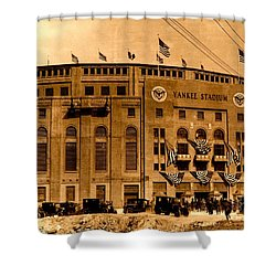 Grand Opening Of Old Yankee Stadium April 18 1923 Shower Curtain