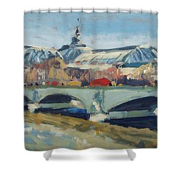 Grand Palace In Winter Paris Shower Curtain by Nop Briex