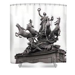 Grand Palais Quadriga Shower Curtain