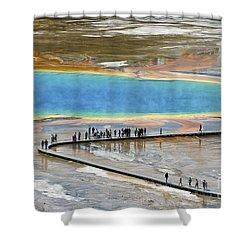 Grand Prismatic Spring Shower Curtain by Teresa Zieba
