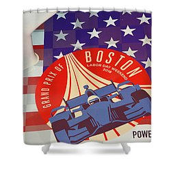 Grand Prix Of Boston Shower Curtain