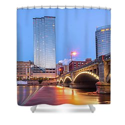 Grand Rapids Riverfront Shower Curtain