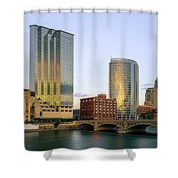 Grand Rapids Sunset Shower Curtain