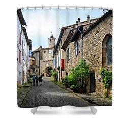 Grand Rue De L'horlogue In Cordes Sur Ciel Shower Curtain by RicardMN Photography