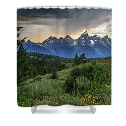 Grand Stormy Sunset Shower Curtain by David Chandler
