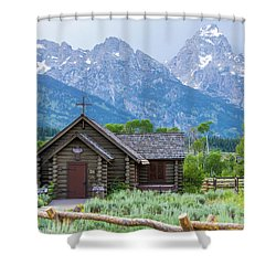 Grand Teton Church Shower Curtain