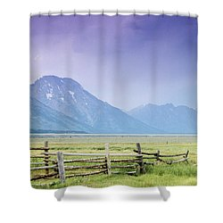Grand Teton Homestead Shower Curtain