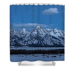 Grand Teton National Park Sunrise Shower Curtain