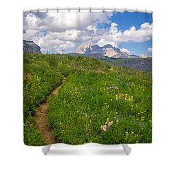 Grand Teton Scenic Hiking Path Shower Curtain by Serge Skiba