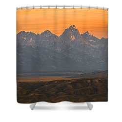Shower Curtain featuring the photograph Grand Teton Sunset by Serge Skiba