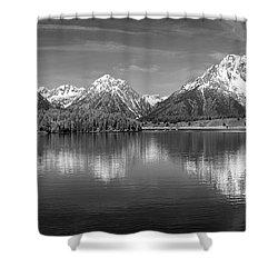 Grand Teton Tranquility Shower Curtain by Sandra Bronstein
