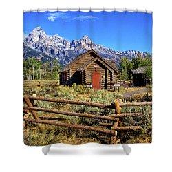 Grand Tetons Chapel Shower Curtain