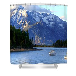 Grand Tetons Shower Curtain by Charlotte Schafer