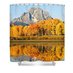 Grand Tetons In Autumn 2 Shower Curtain by Ron Dahlquist - Printscapes