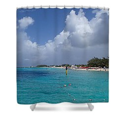 Grand Turk Beach Shower Curtain by Lois Lepisto
