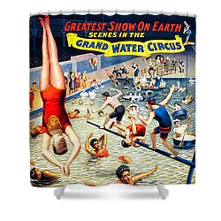 Grand Water Circus Barnum And Bailey 1895 Shower Curtain