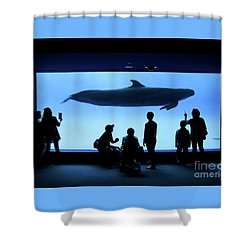 Grand Whale Shower Curtain by Tatsuya Atarashi