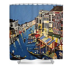 Grande Canal Shower Curtain by Donna Blossom