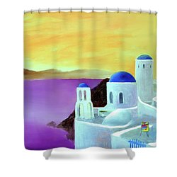 Grandeur Of Greece Shower Curtain