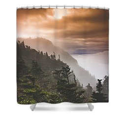 Grandfather Mountain Blue Ridge Mountains Of North Carolina Shower Curtain
