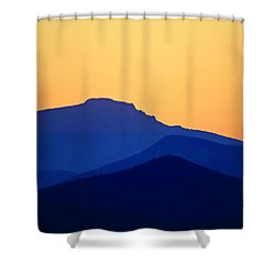 Grandfather Sunset Shower Curtain by Dale R Carlson