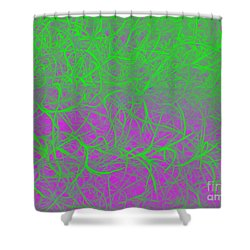 Grandfather's Beard - Punked Shower Curtain by Linda Hollis