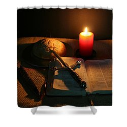 Grandfathers Bible Shower Curtain