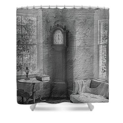 Grandfather's Clock Shower Curtain