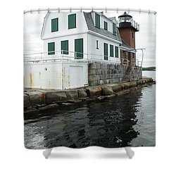 Grandfathers Lighthouse Shower Curtain