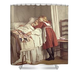 Grandfathers Little Nurse Shower Curtain by James Hayllar